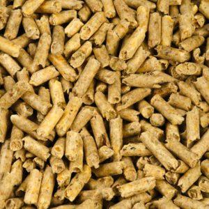 Pea fibre pellets